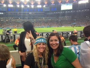 Opening game at Rio's Maracana Stadium. We saw Messi's first goal!
