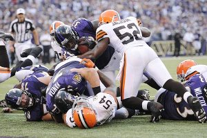 Ravens/Browns Man Pile