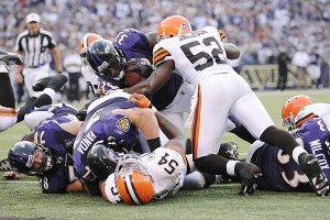Ravens/Browns Man Pile