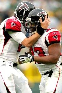Falcons Man Hug
