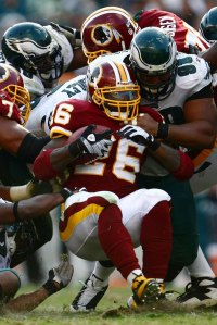 Redskins/Eagles Man Pile